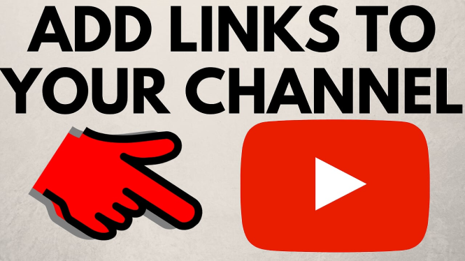 add links to youtube channel art